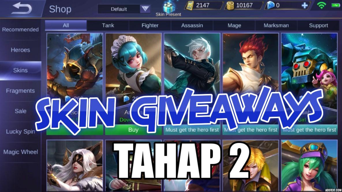 Skin Mobile Legends Gratis dari Jonooit Tahap 2! (Periode April 2018)